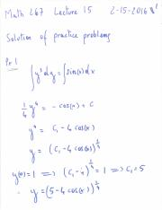 PracticeProblems1Solutions
