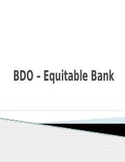 bdo acquisition of pci equitable securities At the acquisition price of p5650 per share, bdo will be paying 0  and acquired banco santander phils and santander investment securities  equitable-pci bank.