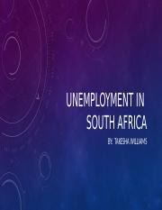 Unemployment In South Africa.pptx