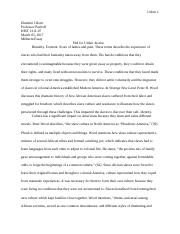 Strange New Land Midterm Essay