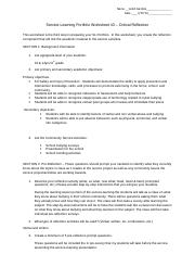 SL Portfolio Worksheet 3 - Critical Reflection(2)