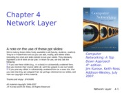 Lecture 7 - Network Layer