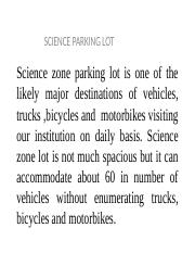 science parking lots.
