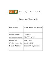 Practice Exam 1 with solution