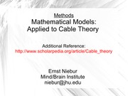 niebur updated cabletheory-2015