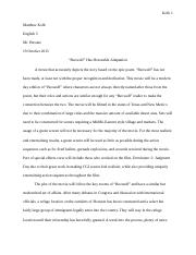 Beowulf Movie Treatment Paper