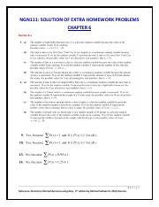 Ch6-NGN111  EXTRA HOMEWORK PROBLEMS