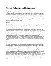Week 6 Rebuttals and Refutations 3.0.docx