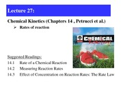 Lecture 27-Rate of reactions