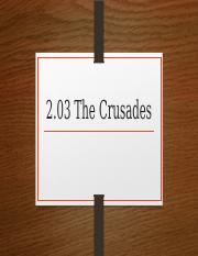 2.03 The Crusades