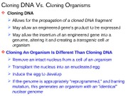 Recombinant DNA Cloning Technology show