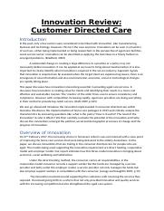Innovation Review Customer Directed Care.docx