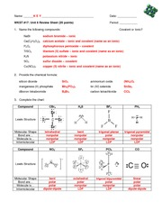 Unit 6 Review Sheet KEY