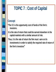 Topic7costofcapital.ppt
