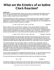 What are the Kinetics of an Iodine Clock Reaction for Students(6)