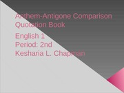 Anthem-Antigone Conparison Quotation Book
