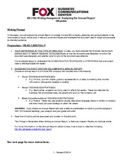 Fall 2013 Writing Assignment Annual Report