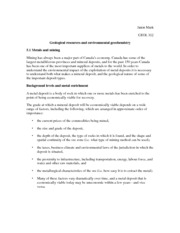 Geological resources and environmental geochemistry Notes