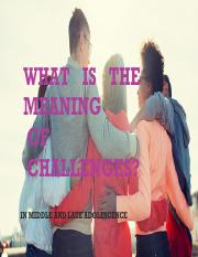WHAT IS THE MEANING OF CHALLENGES.pdf