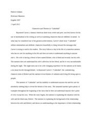 argumentative essay on cathedral by raymond carver Cathedral by raymond carver essay - high-quality homework writing company - order high-quality assignments for cheap online homework writing and editing website - get professional help with non-plagiarized assignments for me quality research paper writing and editing company - purchase original papers online.