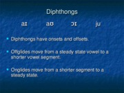 Chapter 13 Diphthongs