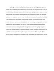 Candlelight Research Paper (Abstract)