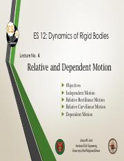 Lecture 4 Relative and Dependent Motion.pdf