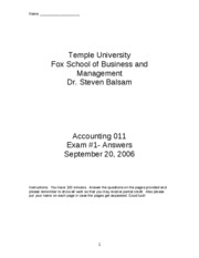 2006 Fall Accounting_011_exam_1___Fall_2006__Answers