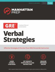 Manhattan Gre Verbal Pdf