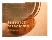1 - Chapter 2 - Research Paradigms