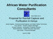 African Water Purification Consultants Powerpoint