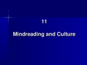 11. Mindreading and Culture