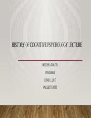History of Cognitive Psychology Lecture.pptx