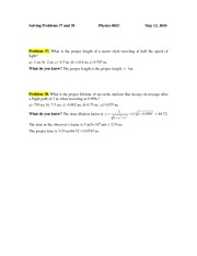 PROBLEM 37 & 38 May 12 2010