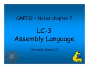 Chapter 7 Notes - LC-3 Assembly Language