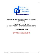 ODP 06 TECHOP DGNSS Position Reference Sensors