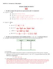 Test 3 Study Guide