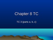 Chapter 8 TC & Cases