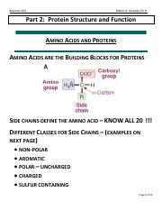 Part 2 - Protein Structure and Function.pdf