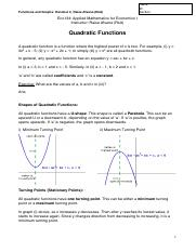 Eco134_Quadratic Functions