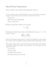 Sample questions Exam 2