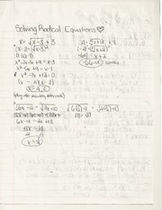 solving radical equations HW pg 268-70 and pg 255