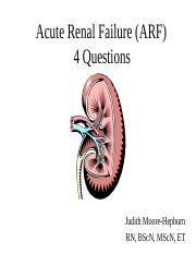 Lecture 4. Acute and Chronic Renal Diseases