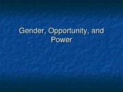 Sociology 360 - Gender and the Feminization of Poverty