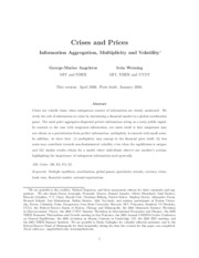 Crises and Prices