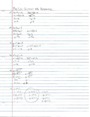Pre-Calculus Section 1.5 Practice Problems 1