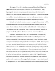 the blessings of the slave summary hebelievedthatthe  2 pages slavery essay