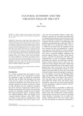 Allen Scott_Cultual Economy and the Creative Field of City
