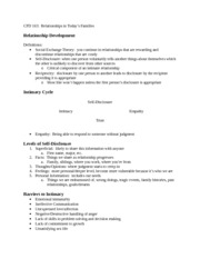 CFD 163 Relationship Development Notes