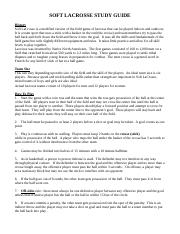 SOFT LACROSSE STUDY GUIDE.doc